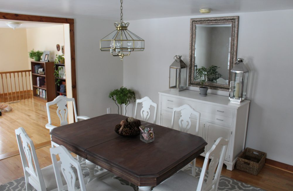 refinished dining room table